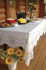 "Heritage Lace Heirloom Tablecloth 70"" x 108"" Rectangle Ecru/White"