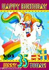 Rainbow Brite Retro Personalised Birthday Card A5 Size  Any Occasion 3 versions