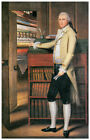 Wall Decor Poster. Standing by books. Art Design.Home History Room art.1572