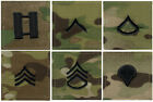 Multicam Military Army Rank Insignia with Hook Back Made in USA