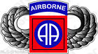 STICKER US ARMY UNIT 82ND AIRBORNE AMERICAN WINGS