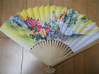 CHINESE JAPANESE GEISHA FANCY DRESS COSTUME WHITE PAPER WOOD DECORATIVE FAN 26cm