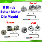 8 Size Die Mould Replaced to Badge Button Maker Machine Round Oval Square