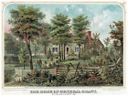 Decor Poster. Graphic Art. General Grant's Home. Historical Wall design. 1080