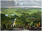 Decor War Poster.Fine Graphic Art. Panoramic country view. Home Wall Design 1233