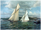 Decor War Poster. Fine Graphic Art. Sailing Boats.Interior Home Wall Design 1237