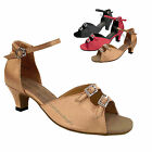 "Women's Ballroom Salsa Latin Tango Satin Dance Shoes 1620 Heel 1.3"" Very Fine"