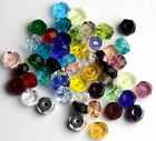 TBB 50 Each Czech Glass 6x3mm Faceted Rondel-Shaped Beads, Multiple Colors