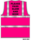 PINK HI VIS SUPERIOR VEST WAISTCOAT Horse Riding PLEASE PASS SLOW AND WIDE