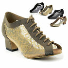 "Women's Ballroom Salsa Latin Practice Nubuck Dance Shoes 1643 Very Fine 2"" Heel"