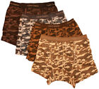 12 x Mens 100% Cotton Army Camouflage Button Fly Boxer Shorts Underwear