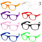 Wayfarer Glasses Aviator Geek Nerd Fancy Dress Rave Club Party Sunglasses Colour
