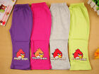 New Baby Toddle Girls Angry Bird  Pant/legging  variety colours at size 0.1.2