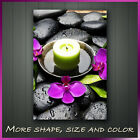 ' Orchid Spa Stone Zen ' Modern Abstract Contemporary Wall Art Deco Canvas