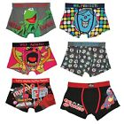 3 x Mens Cotton Rich Novelty Cartoon Character with Elastic Waist Band