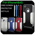 NEW STYLISH ALUMINIUM BUMPER SERIES CASE COVER FITS FOR APPLE IPHONE 4 4G 4S