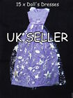 BARBIE SINDY DOLL CLOTHING OUTFIT 15 LONG BALL GOWN WEDDING DRESSES UK SELLER