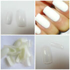 100 x WHITE, CLEAR FALSE FAKE ACRYLIC FRENCH FULL COVER NAILS MAKEUP UK DISPATCH