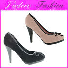 NEW LADIES BOW STILETTO HIGH HEEL GORGEOUS STYLISH COURT SANDALS SHOES UK 3-8