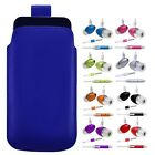 M- BLUE PULL TAB POUCH CASE COVER + HANDS FREE HEADSET fOr LG GC900 Viewty Smart