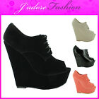 NEW LADIES KILLER WEDGE HIGH HEEL PLATFORM LEISURE SEXY ANKLE BOOTS SIZES UK 3-8