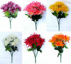 Artificial Spider Mum / Chrysanthemum Posy Bouquet Silk Artificial Flowers