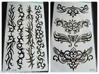 ONE SHEET MENS BOYS ARTY BLACK CELTIC TRIBAL TEMPORARY TATTOOS 20x10cm UK SELLER