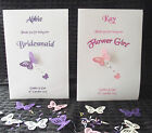 Bridesmaid Maid of Honour Flower Girl etc Personalised Thank you Card