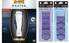 Andis Master Clipper 01557 ML + Double Magnetic Combs #0-8, Guides 01410 & 01415