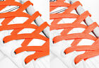 FLAT ORANGE SHOE LACES LONG SHOELACES - 8mm wide - 11 LENGTHS - 2 SHADES