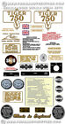 1973-75: Tiger 750cc twin -RESTORERS DECAL SETS - Triumph TR7 Tiger Decals $36.8 USD