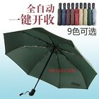 HIGH QUALITY AUTO OPEN /AUTO CLOSE UV-COATING WINDPROOF 3 FOLD UMBRELLA W/ BAG
