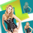 New ladies lace sexy corset top bustier lingerie underwear g string gothic LA067