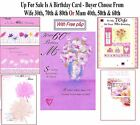 Wife 30th 70th 80th Mum 40th 50th 60th Birthday Card For My With Love Free P&P