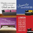 Wall Quotes (Large) - Loads of Designs to Choose From - Vinyl Stickers/Decals