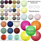 25 Swarovski Crystal 5810 Round Pearl 6mm Beads Various Colours
