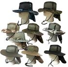 Boonie Fishing Hiking Snap Brim Army Military Neck Cover Flap Mesh Bucket Hat