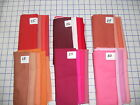 "UNBELIEVABLE shades of PIMA cotton 4 fat quarters ea 18 x 29"" ~1 yd reds peaches"