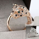 R610 Fashion Leopard Ring 18K GP use Swarovski Crystal
