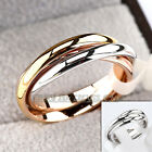 B1-R539 Fashion 2.4mm Width Plain Triple Band Rolling Ring 18KGP
