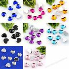 1000pc 8Color Acrylic Heart Flat Bead For Nail Tip Stickers Phone Decoration Art