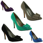 New Ladies Stiletto High Heel Pointed Toe Bow Court Sandals Size UK 3 4 5 6 7 8