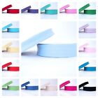 25m ROLL 18mm - PLAIN - QUALITY EUROPEAN  BIAS BINDING folded trim ALL COLOURS