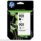 HP No 901 Black & Colour Original OEM Inkjet Cartridge CC653AE CC656AE Officejet