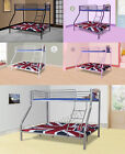 New Metal Single Double Triple Kids Children Sleeper Bunk Bed Frame No Mattress