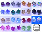 6 Swarovski Crystal 5601 Cube Beads 4mm All Colours