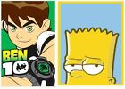 Bart Simpson & Ben 10 Cartoon Kids Rug Mat Childrens Bedroom Bathroom Rug Mat