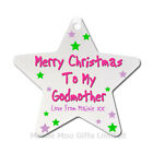 Personalised Godparent Godfather Godmother Merry Christmas Tree Decoration Gift