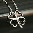 A1-P358 Fashion Four Leaf Clover Necklace Pendant 18KGP