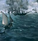 Battle Uss Kearsarge Css Alabama Edouard Manet French 1832 1883 1864 Repro Art P
